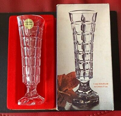 Cristal D'arques France Lead Crystal Bud Vase 16.5cm Tall