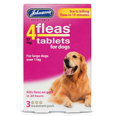 Johnson'S Veterinary 4Fleas Tablets For Dogs - 3 TABLETS  [D092]