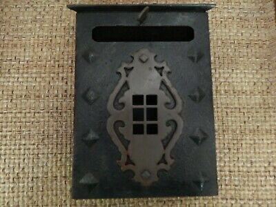 Vintage Arts & Crafts Letter Box/Mail Box Mission Style Cast Iron Wall Mount