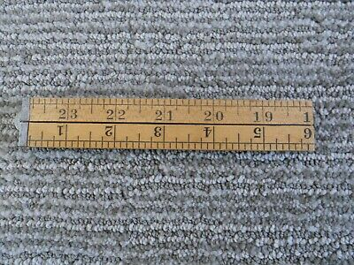 Vintage Wood Wooden Folding Tape Measure USA
