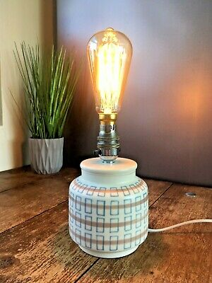 Rare Mid Century 1950'S Poole Pottery Pjb Retro Bedside Lamp Base By Alfred Read