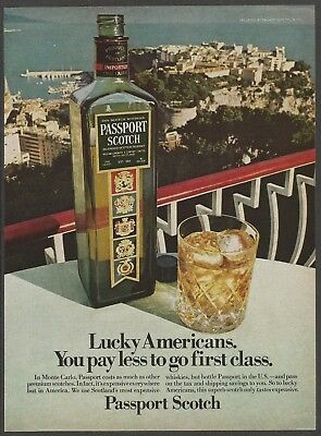 PASSPORT SCOTCH Blended Scotch Whisky - Monte Carlo -1978 Vintage  Print Ad