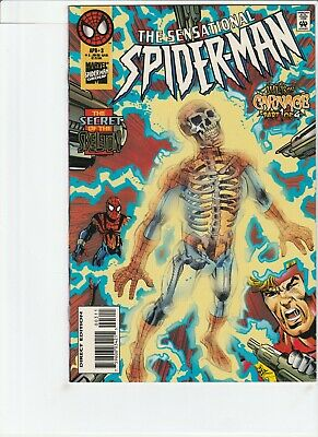 Sensational Spiderman # 3 !! 1996 Web Of Carnage Part 1 !! X-Over!! .99 Auctions