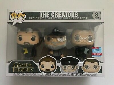 Funko Pop! Game Of Thrones: The Creators! 3 Pack NYCC Exclusive SHIPS FAST