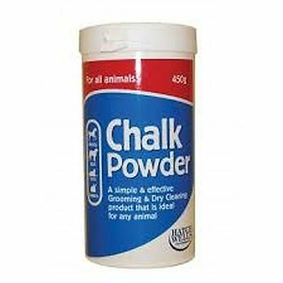 New Horse Pony Cob Pet Hatchwells White Chalk Powder 450g Showing Whitens Coats