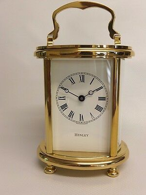 Henley English Carriage Clock Ovale / Hand Crafted in the UK / RRP £1,995