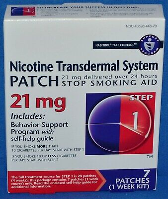 Habitrol Step 1 Nicotine Patch Transdermal System 21mg 7 Patches Each