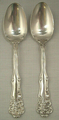 2 Silver Plate Teaspoons Wm Rogers Berwick AKA Diana Pattern 1904 Good Condition