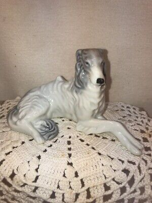 Vtg 1940-50's Occupied Japan REGAL Borzoi Russian Wolfhound Dog Figurine DETAIL!