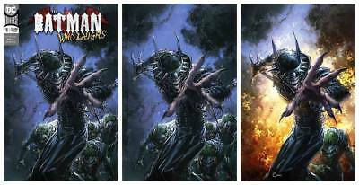 Batman Who Laughs #1 Crain Trade/Virgin/Virgin Flames Variant Set Ltd 1000 Sets