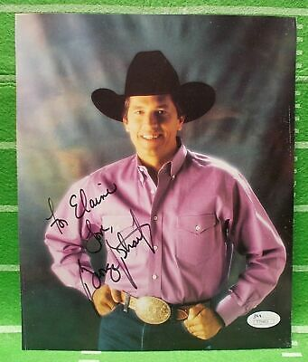 George Strait Signed Autographed INSCRIBED to ELAINE,8x10 Picture,JSA Certified.