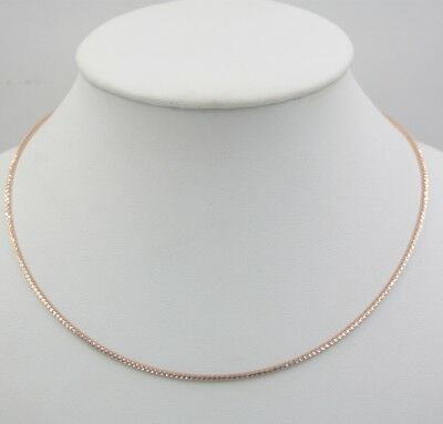 16.5INCH Sólido 18K Multitono Oro Collar Gargantilla 2mm Collar de Alemania
