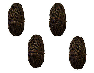 Pack of 4 BROWN Waxed Linen Cotton Jewelry Cord 1mm Craft Thread 100 yds