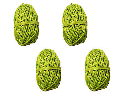 Pack of 4 LIME GREEN Waxed Linen Cotton Jewelry Cord 1mm Craft Thread 100 yds