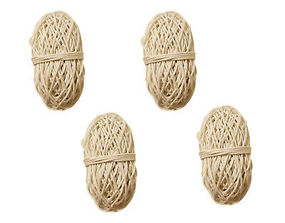 Pack of 4 WHITE Waxed Linen Cotton Jewelry Cord 1mm Craft Thread 100 yds