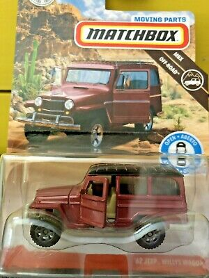 2019 Matchbox Moving Parts MBX Off Road '62 Jeep® Willys Wagon