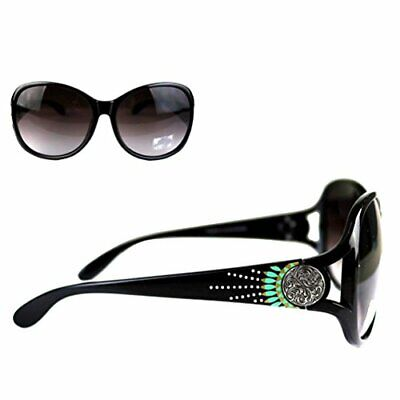 NWT WESTREN MONTANA WEST SGS-4102 Concho Collection Sunglasses BLACK