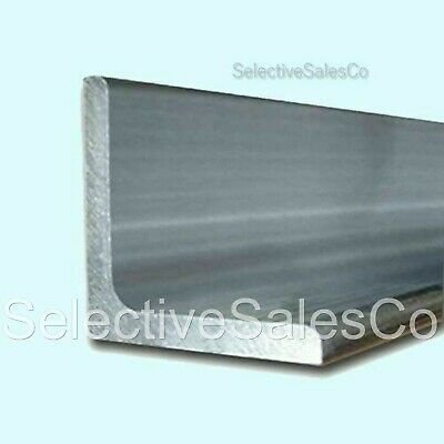 "ALUMINUM ANGLE  1/4"" x 1-1/2"" x 8 Ft Length  Unpolished Alloy 6061  90° Stock"