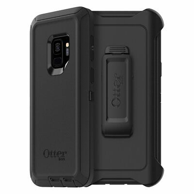 NEW OtterBox Defender Series Case WITH CLIP For Samsung Galaxy S9 BLACK