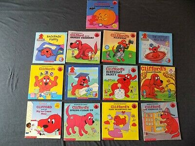 Lot of 13 Clifford The Big Red Dog Norman Bridwell Scholastic Books Kids