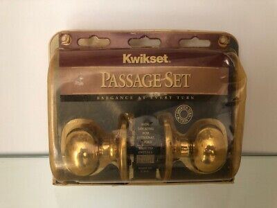 Kwikset Passage Set Door Handles USA Made 1993