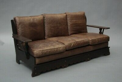 Signed Monterey Sofa Spanish Revival Rancho Mission Old World Finish (11911)