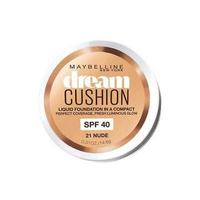 Maybelline Dream Cushion Liquid Compact Foundation SPF40 21 Nude 14.6g