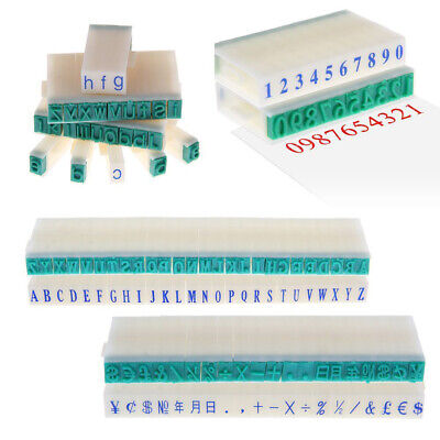 3 Types English Alphabet Letters Numbers DIY Craft Rubber Stamp Free Combination