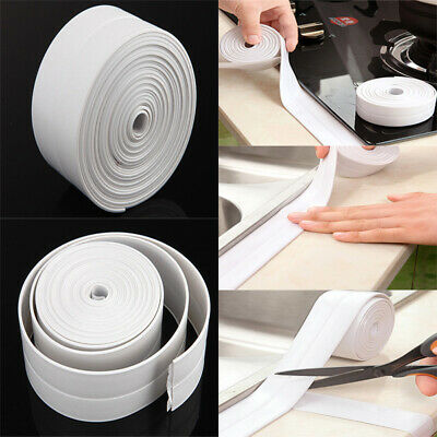 Kitchen Bath Wall Sealing Strip Self-Adhesive Moldproof Caulk Repair Tape 3.2M