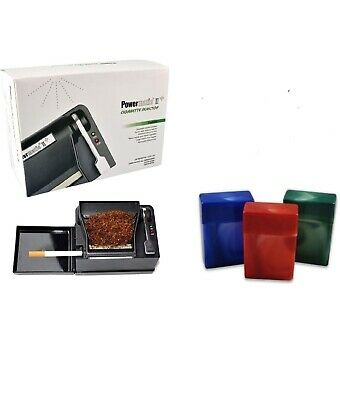 NEW Powermatic 2 II+Electric Cigarette Injector Machine+3pk 85mm Cigarette Case