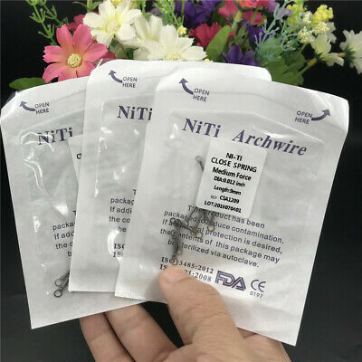 10 Pcs Dental Orthodontic NiTi Alloy Closed Coil Spring 0.012 inch For Implant