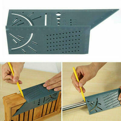 3D Mitre Square Angle Measuring Woodworking Tool with Gauge Rulers 90 Degree