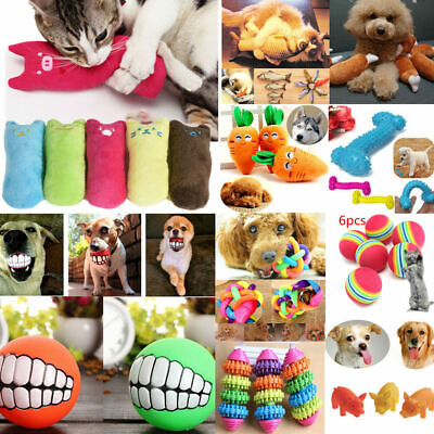 Squeaky Sound Kitten Play Interactive Game Cat Dog Pet Toys Natural Catnip Ball