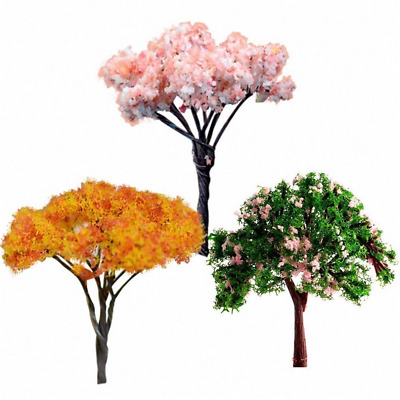 3PCS Mini Tree Miniature Dolls' House Garden Accessory Plant Fairy Ornament Sets