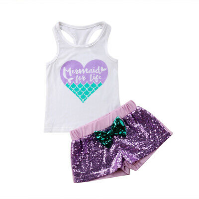 ac0ecf2f5414 New Toddler Baby Girl Summer Clothes Sleeveless T-shirt Vest+Shorts 2PCS  Outfits