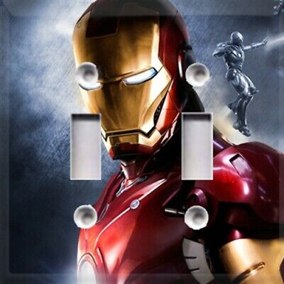 Iron Man Themed Light Switch Plate Cover ~ Choose Your Cover ~