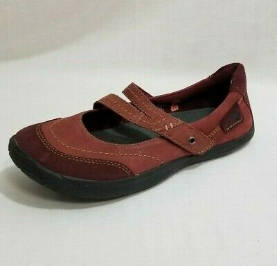 41020bae56 Kalso Earth Women's Peace Mary Jane Negative Heel Shoe 6.5 Red Leather