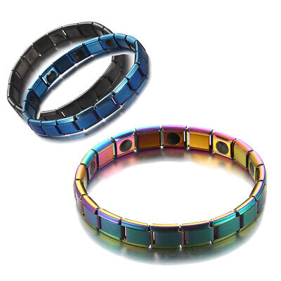 Unisex Therapeutic Energy Healing Bracelet Stainless Steel Therapy Hand Chain