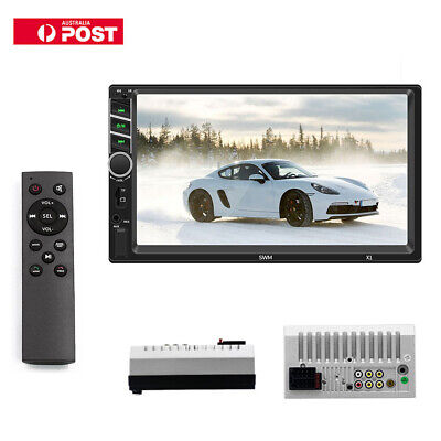 """Double Din HD Car MP5 Player 7"""" Apple Bluetooth Stereo Radio Mirror Link +Camera"""