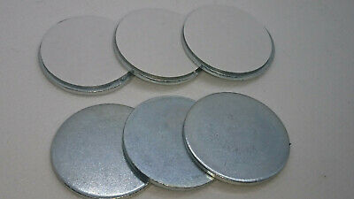 Self Adhesive Circular Metal Discs 32mm Round 1mm Depth 6 x