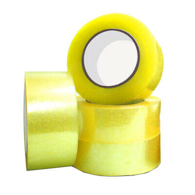 50mm x 100m Clear Packing Tape Sticky Packaging Sealing Shipping Box Carton