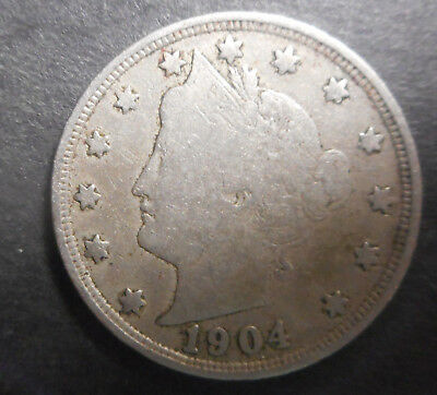 United States US 1904 Liberty Nickel  Coin