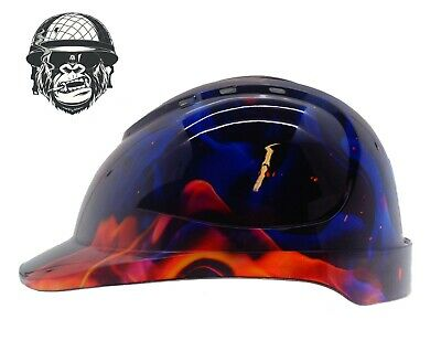 Custom hydrographic cap style safety hard hat INFERNO CAP