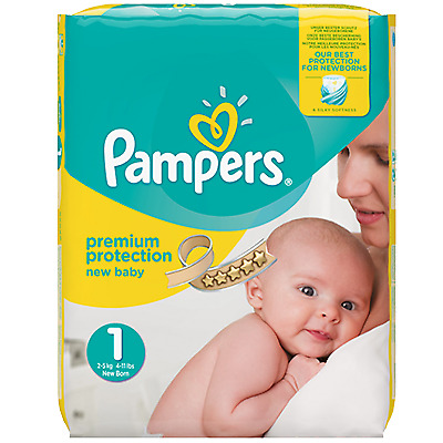 PAMPERS Premium Protection 2-5kg Taille 1 22 couches