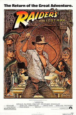Raiders Of The Lost Ark (1981) Poster Reprint/Home Decor/Wall Decor/Wall Art