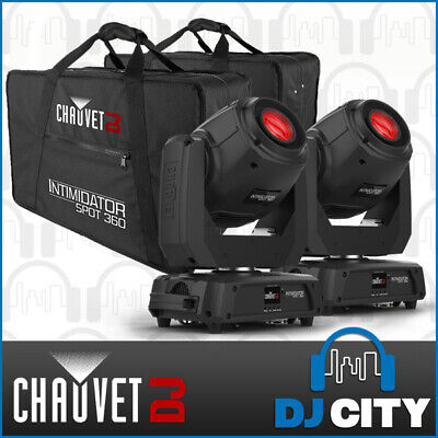 LED Moving Head DJ Stage Party Disco Light 100W 2x Intimidator Spot 360 w/ Bags