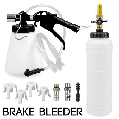 1L Air Brake Bleeder Kit Clutch Vacuum Bleeding Extractor Fluid Adapters Hose
