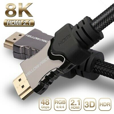[UL Listed] 8K Latest 2.1 HDMI Ready Cable Cord for 3D HDTV HDR eARC Dolby VBR