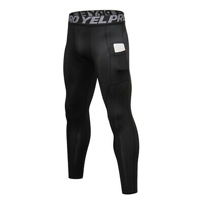 Men's Compression Trouser Apparel Skin Tights Base Under Layer Long Pants Sports