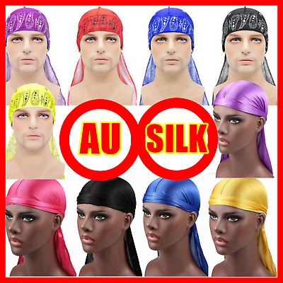 Red Blue White Purple Black Durags Du Rag Cap Doo Rag Skully Chef Pirate Sports